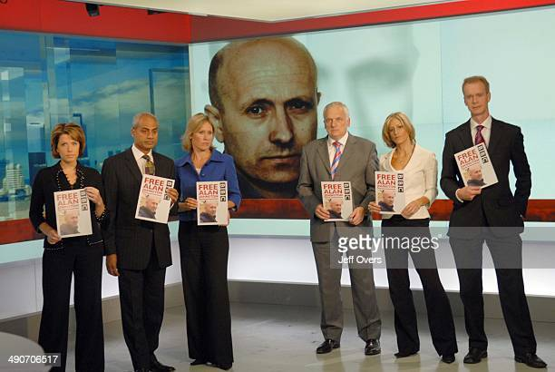 Natasha Kaplinsky George Alagiah Sophie Raworth Nick Gowing Emily Maitlis and Stephen Sackur taking part in worldwide vigil held for kidnapped Gaza...