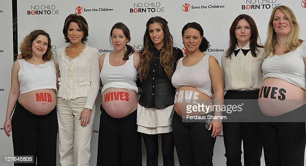 Natasha Kaplinsky Stacey Solomon and Dervla Kirwan attend the launch of Save the Children's 'Missing Midwives Report' at Royal College of...