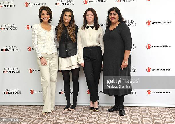Natasha Kaplinsky Stacey Solomon Dervla Kirwan and Gurinder Chadha attend the launch of Save the Children's 'Missing Midwives Report' at Royal...