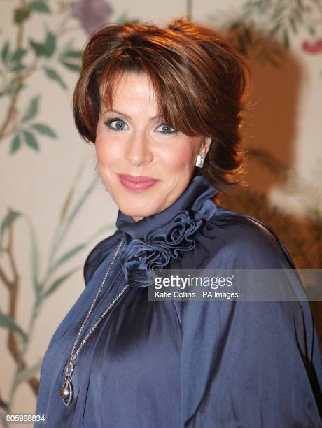 Natasha Kaplinsky who is due to give birth in two weeks at The Dorchester Hotel for The Goldilocks Fashion Show in aid of the Kids Company charity