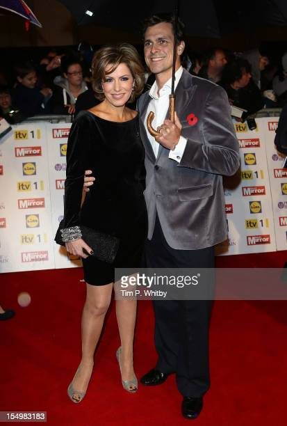 Natasha Kaplinsky with Justin Bower attends the Pride Of Britain awards at the Grosvenor House Hotel on October 29 2012 in London England