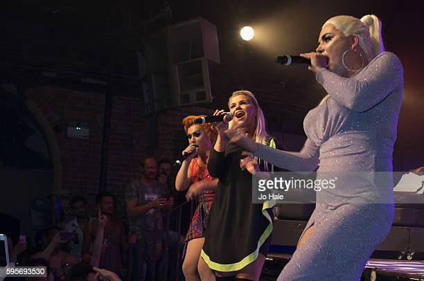 Natasha Kerry Katona and Liz attend GAY Porn Idol at GAY on August 25 2016 in London England