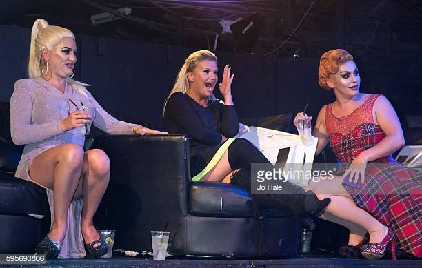 Natasha Kerry Katona and Liz judge GAY Porn Idol at GAY Heaven on August 25 2016 in London England