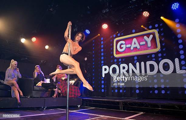 Natasha Kerry Katona and Liz judge GAY Porn Idol at GAY on August 25 2016 in London England