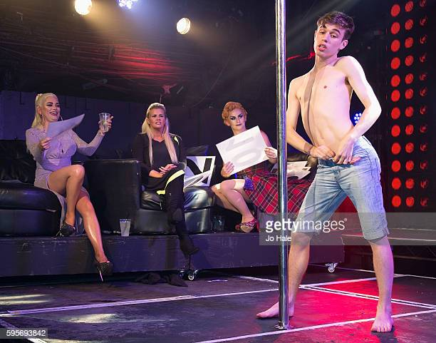 Natasha Kerry Katona and Liz of previous Atomic Kitten judge GAY Porn Idol at GAY on August 25 2016 in London England