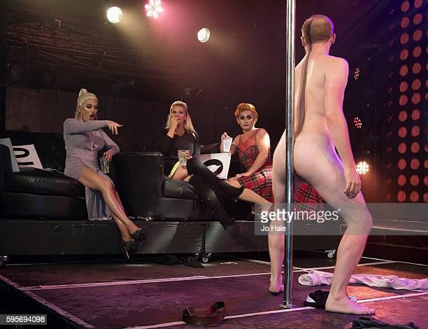 Natasha Kerry Katona and Liz of previous Atomic Kittern perform at GAY Porn Idol at GAY on August 25 2016 in London England