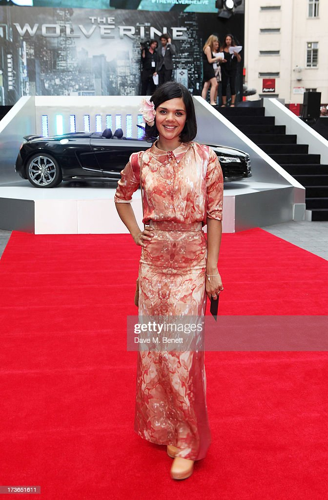 Natasha Khan aka Bat For Lashes attends the UK Premiere of 'The Wolverine' at Empire Leicester Square on July 16, 2013 in London, England.