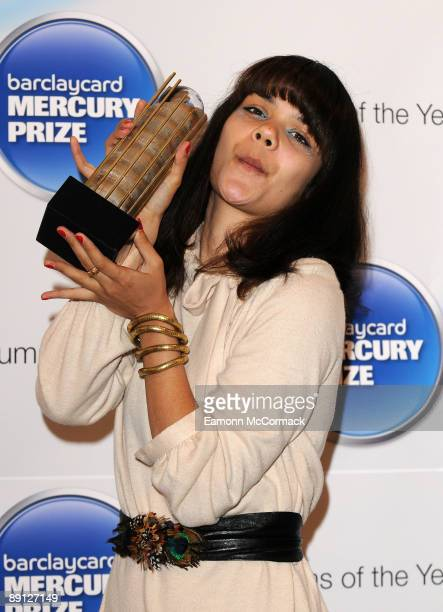 Natasha Khan from 'Bat for Lashes' attends the nominations for the 2009 Barclaycard Mercury Prize at The Hospital on July 21 2009 in London England
