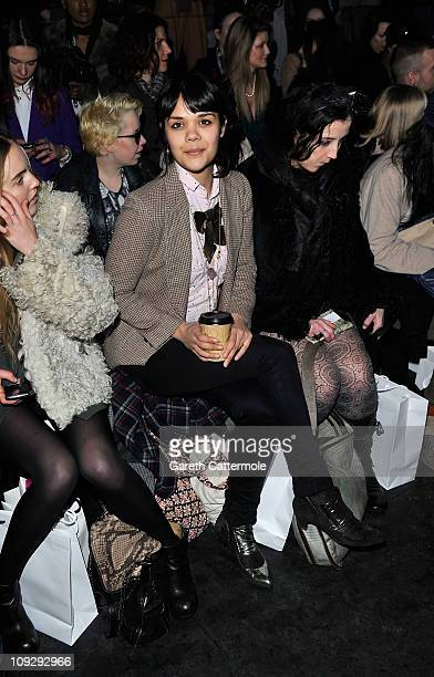 Natasha Khan of Bat for Lashes attends the Belle Sauvage Show at London Fashion Week Autumn/Winter 2011 at Old Sorting Office on February 19 2011 in...