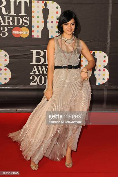 Natasha Khan of Bat For Lashes attends the Brit Awards 2013 at the 02 Arena on February 20 2013 in London England
