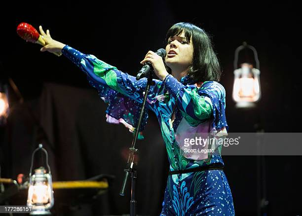 Natasha Khan of Bat for Lashes performs at the DTE Energy Music Theater on August 22 2013 in Clarkston Michigan