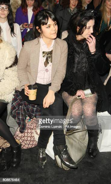Natasha Khan on the front row at the Belle Sauvage catwalk show at the Old Sorting Office in central London as part of London Fashion Week