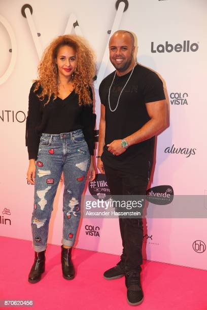 Natasha Kimberly attends with Akay Kayed the GLOW - The Beauty Convention at Station on November 4, 2017 in Berlin, Germany.