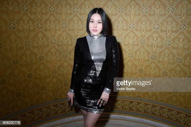 Natasha Lau attends the Balmain show as part of the Paris Fashion Week Womenswear Fall/Winter 2018/2019 on March 2 2018 in Paris France