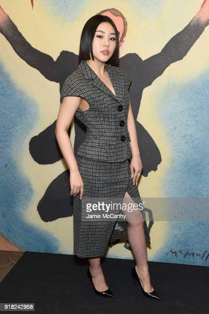 Natasha Lau attends the Michael Kors Collection Fall 2018 Runway Show at Vivian Beaumont Theatre at Lincoln Center on February 14 2018 in New York...