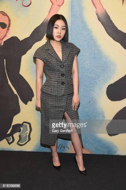 Natasha Lau attends the Michael Kors fashion show during New York Fashion Week at Vivian Beaumont Theatre on February 14 2018 in New York City