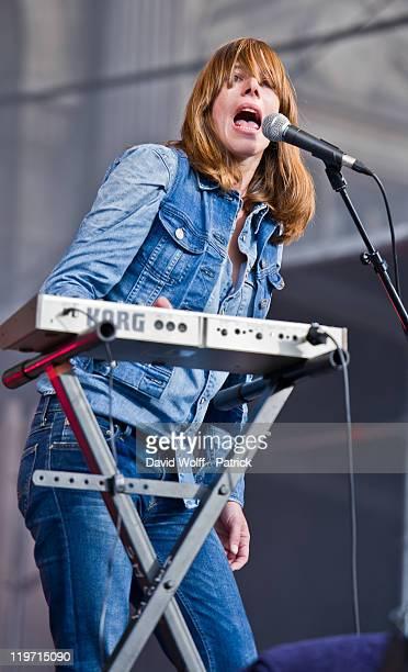 Natasha Le Jeune from Oh La La performs at Festival Fnac Live at Parvis De L'Hotel de Ville on July 23 2011 in Paris France