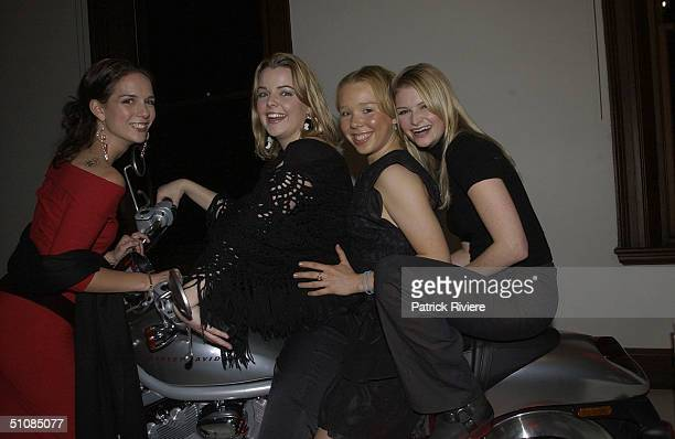 Natasha Lee with Michala Banas, Bree Desborough and Bree Walters stars of 'Always Greener' at the launch of Dior 66, a new collection of watches,...