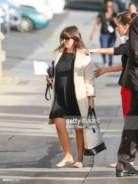 Natasha Leggero is seen arriving at 'Jimmy Kimmel Live' on January 17 2018 in Los Angeles California
