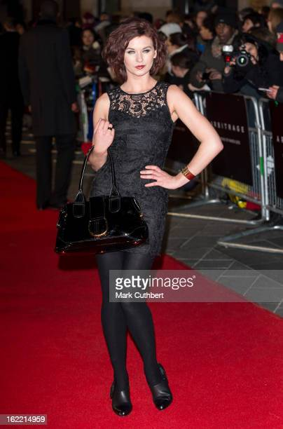 Natasha Leigh attends the UK Premiere of 'Arbitrage' at Odeon West End on February 20 2013 in London England
