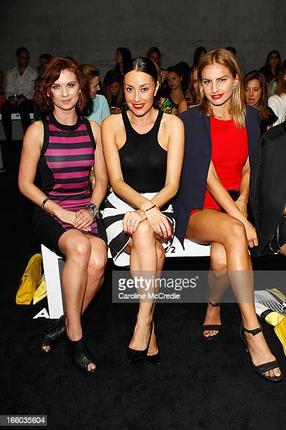 Natasha Leigh Terry Biviano and Lauryn Eagle attends the By Johnny show during MercedesBenz Fashion Week Australia Spring/Summer 2013/14 at...