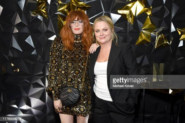 Natasha Lyonne and Amy Poehler attend the 2019 Netflix Primetime Emmy Awards After Party at Milk Studios on September 22, 2019 in Los Angeles,...