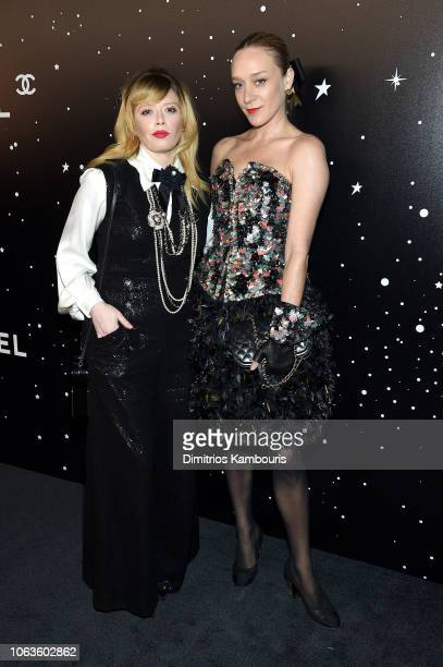 Natasha Lyonne and Chloe Sevigny both wearing Chanel attend The Museum Of Modern Art Film Benefit Presented By CHANEL A Tribute To Martin Scorsese on...