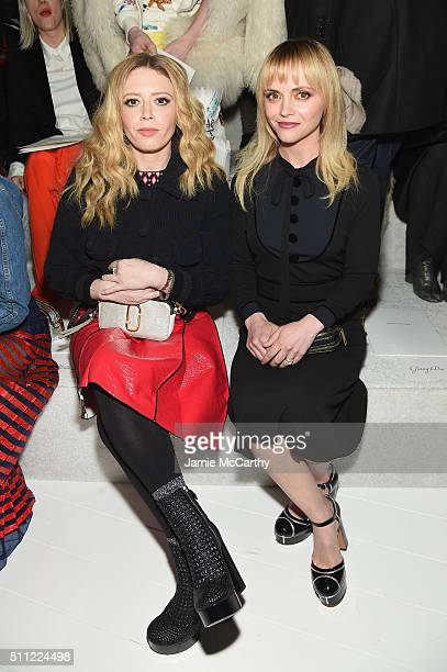 Natasha Lyonne and Christina Ricci attend the Marc Jacobs Fall 2016 fashion show during New York Fashion Week at Park Avenue Armory on February 18...