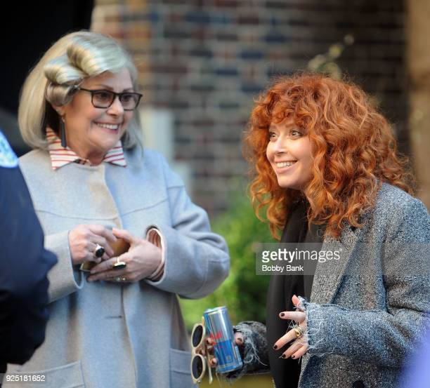 Natasha Lyonne and Elizabeth Ashley on the set of Russian Doll' on February 27 2018 in New York City