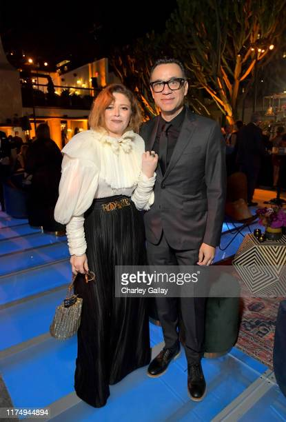 Natasha Lyonne and Fred Armisen attend the 2019 Netflix Creative Arts Emmy After Party at Hotel Figueroa on September 15 2019 in Los Angeles...