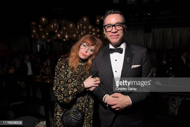 Natasha Lyonne and Fred Armisen attend the 2019 Netflix Primetime Emmy Awards After Party at Milk Studios on September 22, 2019 in Los Angeles,...