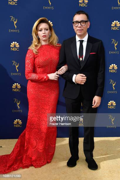 Natasha Lyonne and Fred Armisen attend the 70th Emmy Awards at Microsoft Theater on September 17 2018 in Los Angeles California