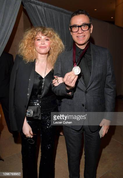 Natasha Lyonne and Fred Armisen attend the PreGRAMMY Gala and GRAMMY Salute to Industry Icons Honoring Clarence Avant at The Beverly Hilton Hotel on...