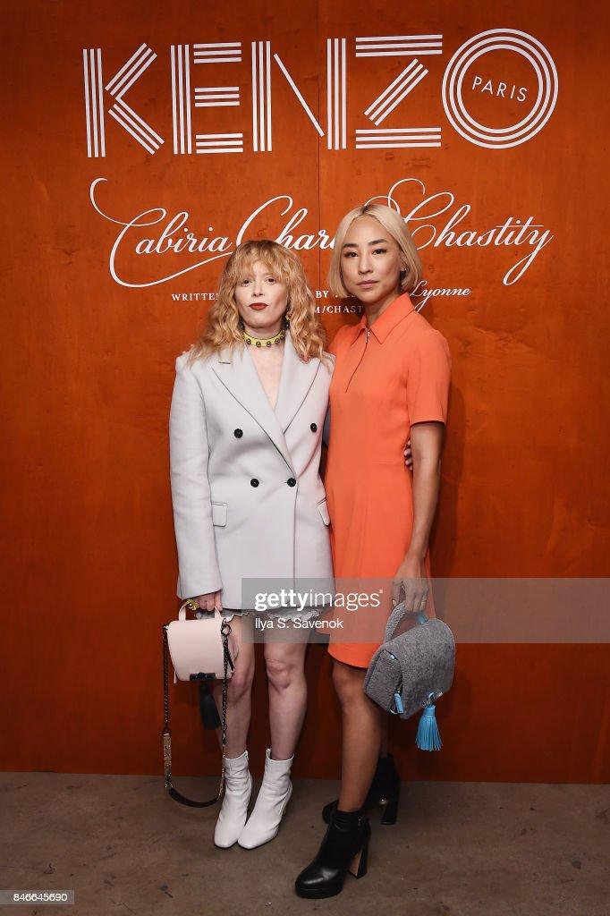 Natasha Lyonne (L) and Greta Lee attend KENZO, Humberto Leon, Carol Lim And Natasha Lyonne Premiere 'Cabiria, Charity, Chastity' In New York City at Public Arts on September 13, 2017 in New York City.