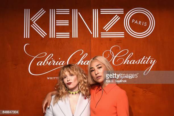 Natasha Lyonne and Greta Lee attend KENZO Humberto Leon Carol Lim And Natasha Lyonne Premiere Cabiria Charity Chastity In New York City at Public...