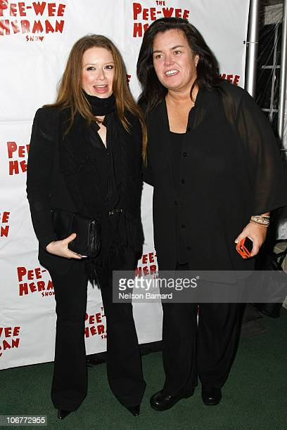 Natasha Lyonne and Rosie O'Donnell attend the Broadway opening night after party of The PeeWee Herman Show at Bryant Park Grill on November 11 2010...