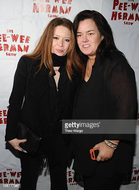 Natasha Lyonne and Rosie O'Donnell attend the 'The PeeWee Herman Show' Broadway opening night after party at the Bryant Park Grill on November 11...