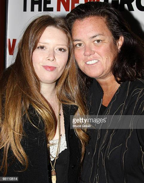 Natasha Lyonne and Rosie O'Donnell attend the 'The Starry Messenger' cast party at Montenapo Restaurant on November 16 2009 in New York City