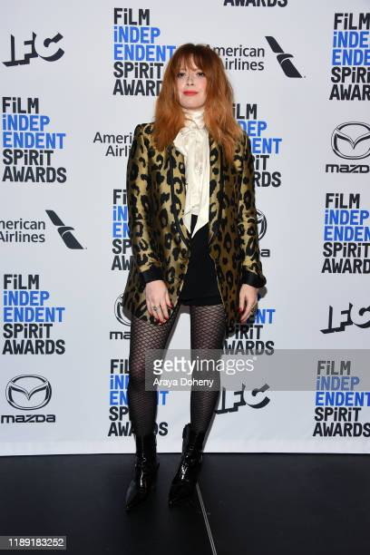 Natasha Lyonne attends the 35th Film Independent Spirit Awards Nominations Press Conference at The Line Hotel on November 21, 2019 in Los Angeles,...