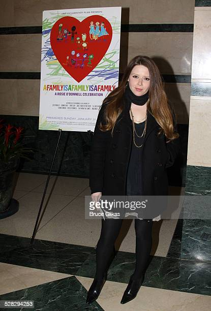 Natasha Lyonne attends the HBO screening of A Family is A Family A Rosie O'Donnell Celebration at the HBO Theater on January 19 2010 in New York City