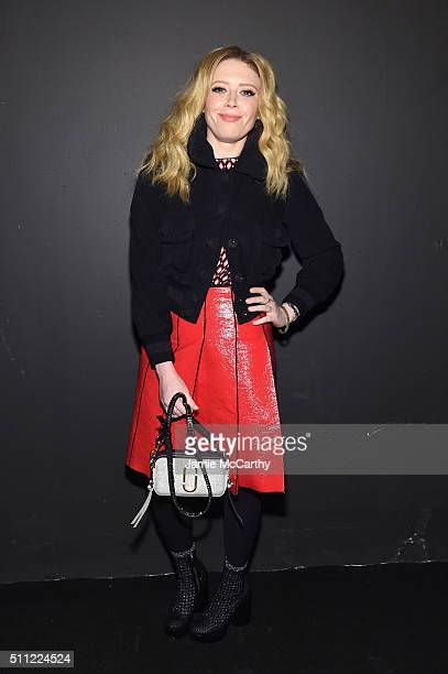 Natasha Lyonne attends the Marc Jacobs Fall 2016 fashion show during New York Fashion Week at Park Avenue Armory on February 18 2016 in New York City