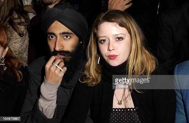 Natasha Lyonne boyfriend during MercedesBenz Fashion Week Marc Jacobs Fall 2002 Collection at The Armory in New York City New York United States