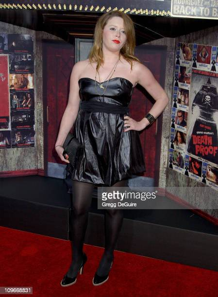 Natasha Lyonne during 'Grindhouse' Los Angeles Premiere Arrivals at The Orpheum Theatre in Los Angeles California United States