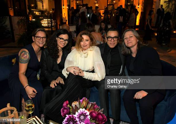 Natasha Lyonne, Fred Armisen and Cindy Holland attend the 2019 Netflix Creative Arts Emmy After Party at Hotel Figueroa on September 15, 2019 in Los...