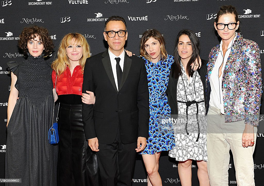 Natasha Lyonne, Fred Armisen, Carrie Brownstein, Abbi Jacobson and Jenna Lyons attend as IFC, New York Magazine and Vulture host the premiere of 'Documentary Now' at the New Museum on September 12, 2016 in New York City.