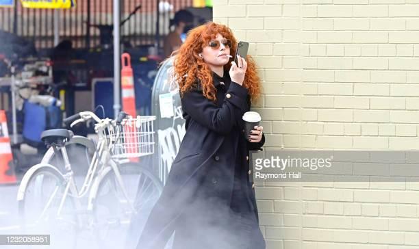 Natasha Lyonne is seen in SoHo on April 1, 2021 in New York City.
