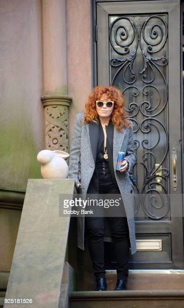 Natasha Lyonne on the set of 'Russian Doll' on February 27 2018 in New York City