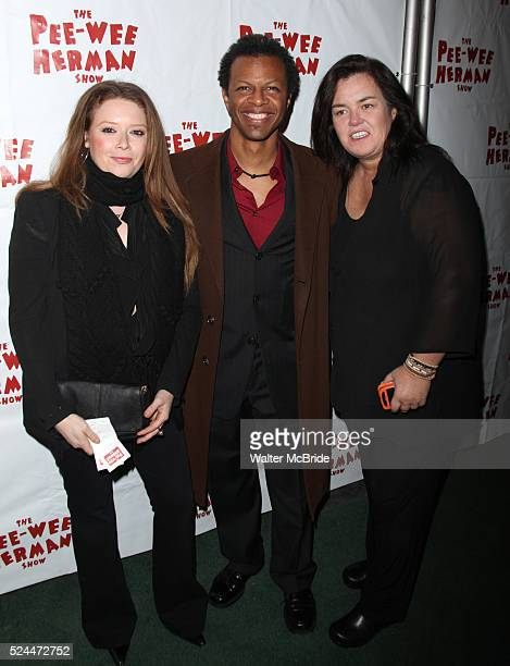 Natasha Lyonne Phil LaMarr and Rosie O'Donnell at the After Party for the Opening Night Performance of the PeeWee Herman Show at The Bryant Park...
