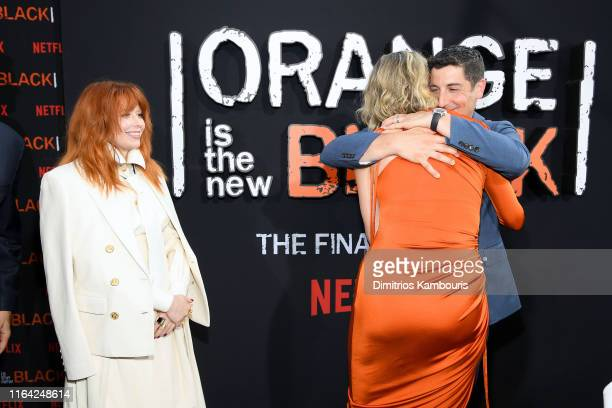 "Natasha Lyonne, Taylor Schilling and Jason Biggs attend the ""Orange Is The New Black"" Final Season World Premiere at Alice Tully Hall, Lincoln Center..."