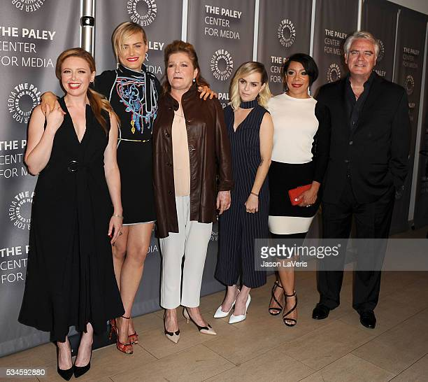 Natasha Lyonne Taylor Schilling Taryn Manning Kate Mulgrew Selenis Leyva and Michael Harney attend an evening with Orange Is The New Black at The...